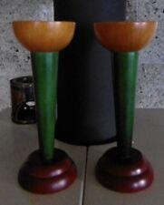 2 x Alte Kerzenständer  Holz  Erzgebierge   Volkskunst