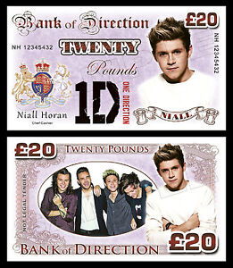 Niall Horan - One Direction Novelty Banknotes