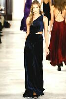 Ralph Lauren Collection Purple Label Velvet Long Maxi Dress 2016 Runway Gown 6