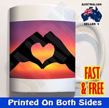 Love heart sunset #3 Coffee Mug Cup Birthday valentines day valentine Gift Cute