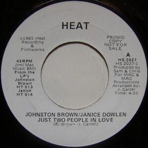 JOHNSTON BROWN/JANICE DOWLEN: Just Two People In Love (Heat) 80's Sweet Soul