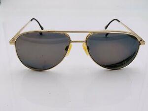 Vintage Hi-Tec Gold Metal Aviator Sunglasses FRAMES ONLY Korea