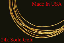 24K SOLID GOLD 28G ROUND WIRE 6 INCHES HH