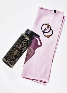Victoria's Secret On Point Exercise Workout Kit Water Bottle Hair Ties Towel NEW