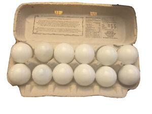 One Dozen Vintage Milk Glass Eggs