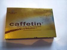 Caffetin, Pain Relief, Headache, Toothache, Migraine, 2 x 12 tablets