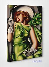 Quadro Tamara de Lempicka Donna in Verde Stampa su Tela Canvas Poster Tavola Mdf