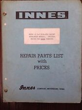 Innes Repair Parts List with Prices for Model 15 L-C Pickups
