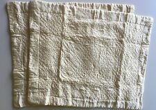 RARE Court Of Versailles Du Barry Silk Ivory Standard Shams Pair Horchow/Neimans