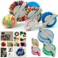 Pom pom Maker kit Fluff Ball Weaver Needle Knitting Set Craft Bobble Size 4 Y1D6