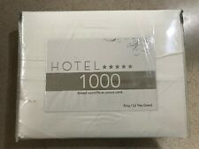 Hotel Collection 1000 TC Sateen Sheet Set (White) - Size: King ***BRAND NEW***