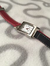 TOMMY HILFIGER WOMEN REVERSIBLE RED/NAVY BLUE WATCH