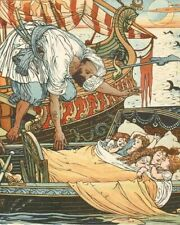 THE SONG OF SIXPENCE BY WALTER CRANE 1909 8X10 ART PRINT 28012004176