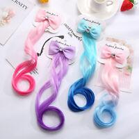Kid Girl Colorful Long Straight Hair Décor Hair Clip Wig Hair Accessory Lot