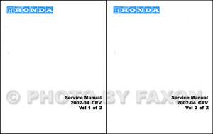 2002-2003-2004 Honda Cr-V Tienda Manual Crv Reparación Servicio Libro Juego OEM