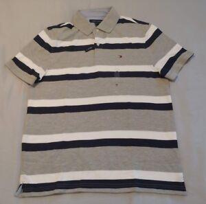 NWT Tommy Hilfiger Men's  Polo Shirt  Multi-Color Short Sleeve Logo M,L,-XL