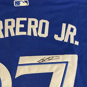 Vladimir Guerrero Jr. Signed Blue Jays Jersey Autographed Auto JSA Witness COA