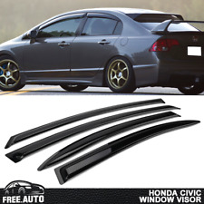 For 06-11 Honda Civic Sedan Slim Style Window Visors 4Pc