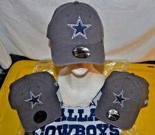 Dallas Cowboys STAR NFL Adult Gray Relaxed Fitted Adult Size Medium Hat/Cap NWT