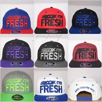 Sorry i'm FRESH  snapback caps, flat peak fitted baseball hats, hip hop bling