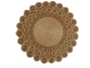 Table Mat Beaded Placemats Set Of 2  Luxury Round Design Table Mat 14X14 Inch