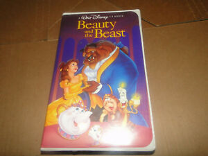 Beauty and The Beast (VHS, 1992, Black Diamond Classic) Clam Shell Case