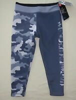 Girls Size S 8 Under Armour Camo Athletic Leggings Running Pants Gray Nwt