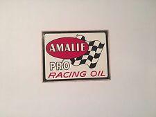 1970 AMALIE PRO RACING OIL ORIGINAL RACING STICKER DECAL ORIGINAL NOS NASCAR