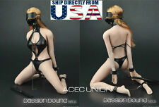 "1/6 Sexy SM Leather Lingerie Suit Set For 12"" Phicen Hot Toys Female Figure USA"