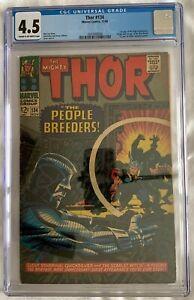 Thor #134 CGC 4.5 CR/OW 1st App High Evolutionary Man-Beast- MCU