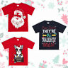 Boys Girls Unisex Xmas Printed T-Shirts Christmas Design Teen 7-13 Years Cotton