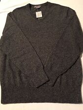 Daniel Cremieux Men's 100% Cashmere Sweater, Dark Grey Heather,  LG, XXLG, NWT