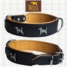 WOZA Premium Beagle Collar Full Leather Padded Soft Cow's Napa Handmade CO25659