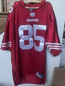 Reebok Jersey mens size 56 San Francisco 49ers Vernon Davis #85  NFL Red