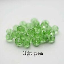 DIY 100Pcs4mm Light green Round Crystal Glass Spacer Beads For Earring Bracelet