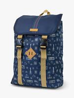 Nikon CoolPix W100 Doodle Pattern Denim Backpack Rucksack Camera Bag - Blue