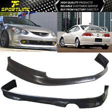 Fits 02-04 Acura RSX Coupe 2Door Front&Rear Bumper Lip Spoiler Bodykit Black PU
