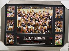 SYDNEY ROOSTERS NRL 2013 PREMIERS PRINT FRAMED - MINICHELLO