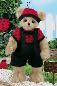 Bearington Plush 14 inch Bear, Luke B. Lucky, Bee Outfit, New with Tag, 143255
