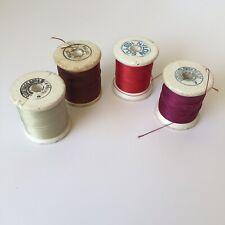4 Spools Vintage Gudebrod Rod Winding Nylon