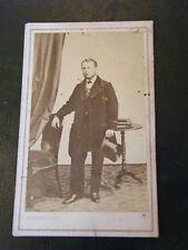 Photographie Gentilhomme Chapeau Haut de Forme XIX ème Siècle