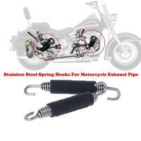 2 STÜCKE Motorrad Auspufffeder Haken Modifizierte 85mm Edelstahl Universal UE ZV