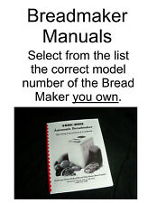 Black & Decker Bread Maker Machine Directions w/Recipes Manual