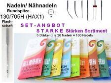 Nähmaschinennadeln 130/705 Sortiment STARKE Stärken: 110-140er SET, 100 Stück