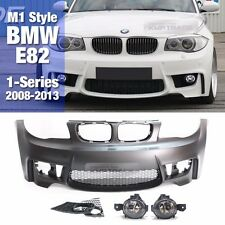 M1 Style Front Bumper No PDC With Fog Light Lamp For BMW 2008-2013 1 Series E82