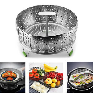 Stainless Steel Folding Steamer Insert for Fish Seafood Boiled Eggs Cooking