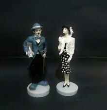 charlie chaplin statue and the girl set figurine figure movie vintage poster