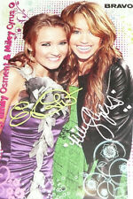 Una Miley Cyrus & Emily Osment AUTOGRAFO Biglietto Autografo RS The Black Eyed Peas