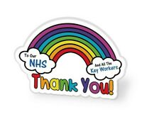 NHS RAINBOW Thank You KEY WORKERS LARGE Pin Badge UK FLAG 2021