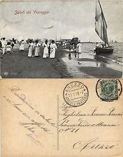 Viareggio, lucca, spiaggia animata 1911